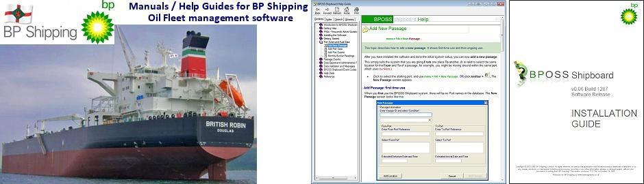 Software Help Guide - BP Shipping Oil Fleet