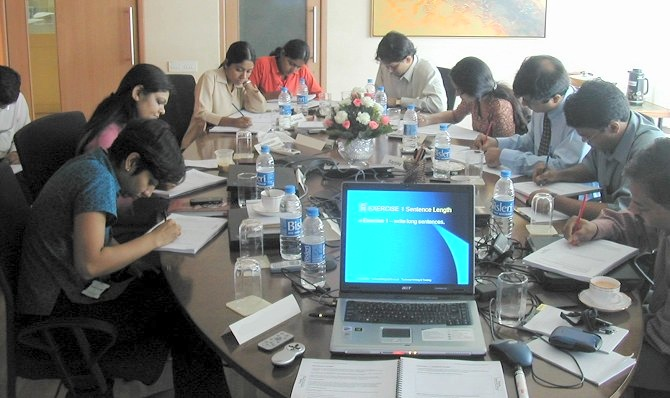 Tech Writing Training held at Quintiles Pharmaceuticals in India